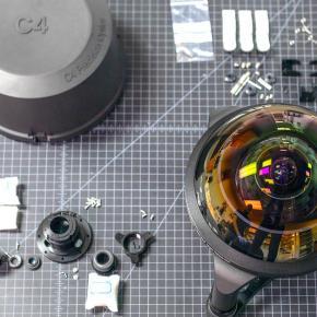 Baita Lente: Protótipo C-4 Optics 4.9mm f3.5 Hyperfisheye