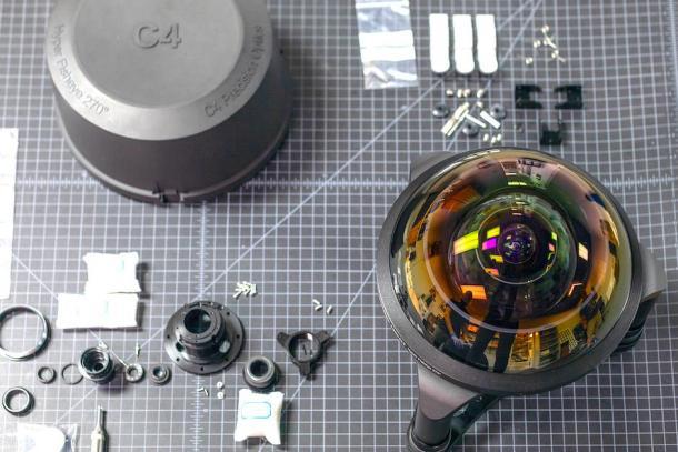 Baita Lente: Protótipo da C-4 Optics 4.9mm f3.5 Hyperfisheye - DXFoto