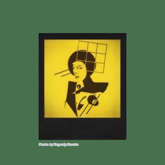 Polaroid Duochrome 600, instantâneos amarelo e preto 10