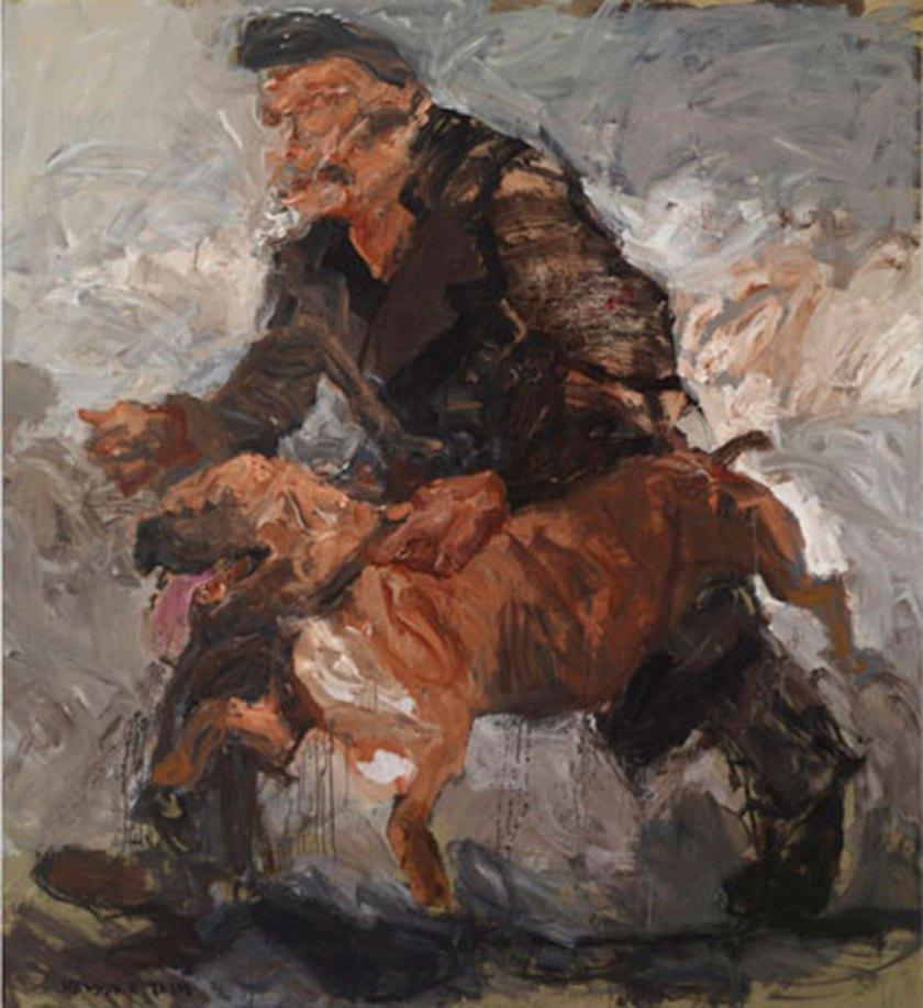 "Serwan Baran, ""Untitled"" Acrylic On Canvas, 222 X 202.5 Cm, 2014 Courtesy Of Ramzi & Saeda Dalloul Art Foundation"