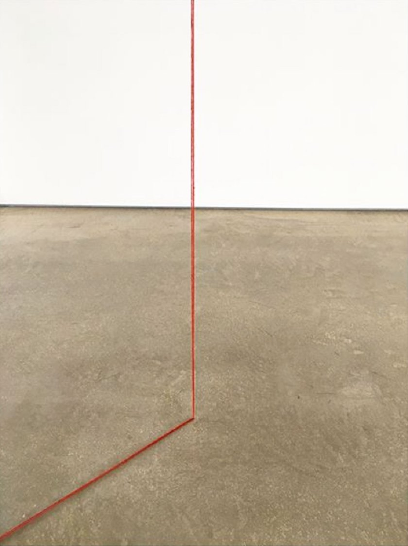 Fred Sandback. Exhibition view at Cardi Gallery, Milano 2018