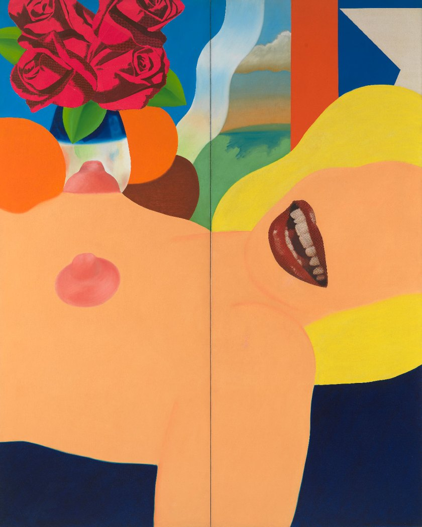 Tom Wesselmann Great American Nude #53, 1964 Huile et collage sur toile / oil and collage on canvas 304,8x243,84 cm /120 x 96 inches © The Estate of Tom Wesselmann/ Licensed by VAGA, New York