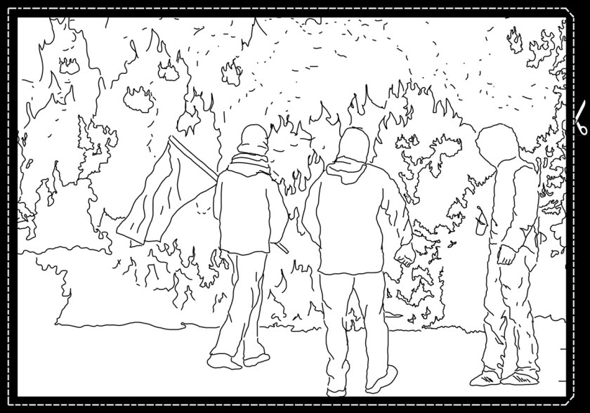 "Serie de dibujos: ""DANCING WITH THE FLAMES"" Dibujos: Pablo Ángel Lugo"