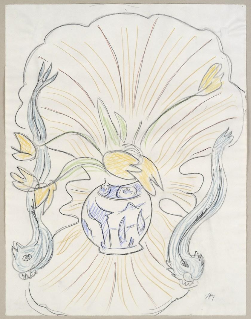 Groninger_Mondo-Mendini_Matisse-Rocaille-fauteuil-en-boeket-tulpen