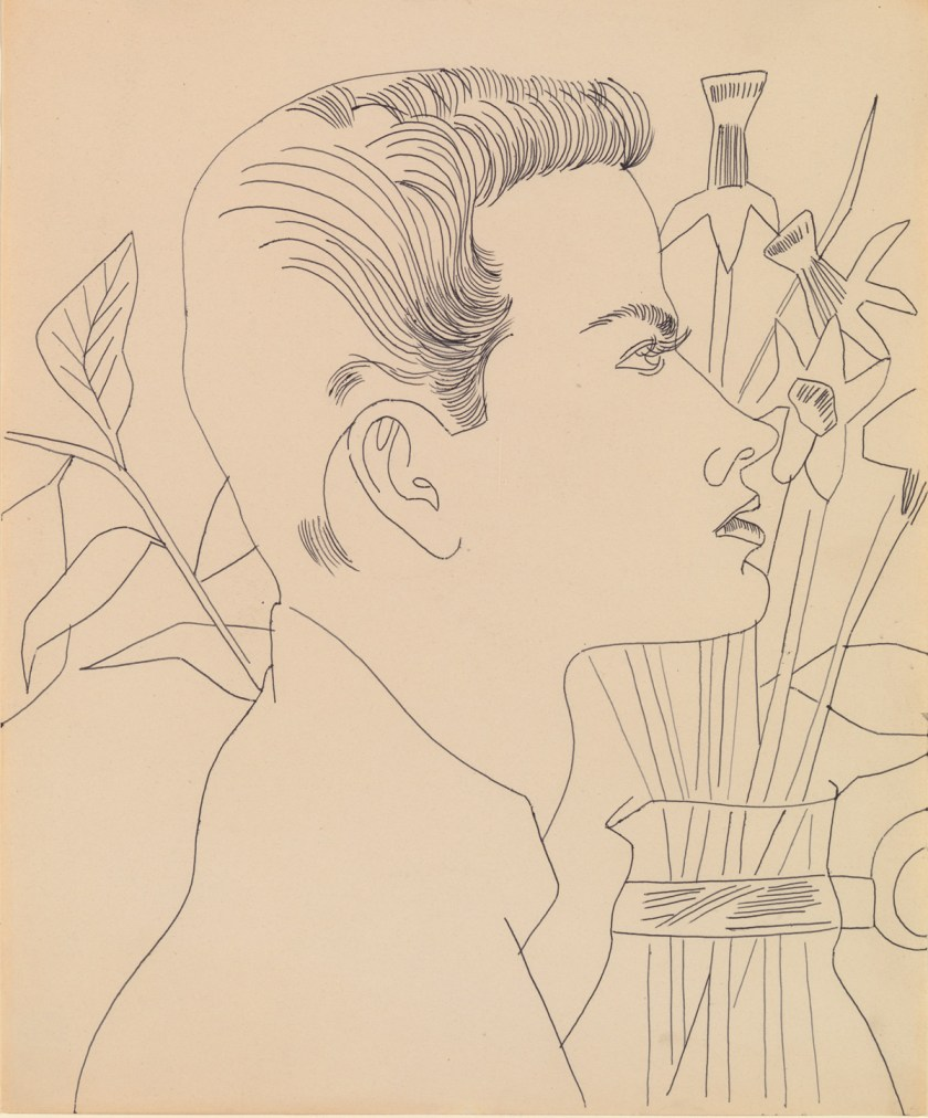 Andy-Warhol-Boy-with-Flowers