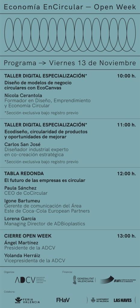 Programa Jornadas Encircular Viernes 13
