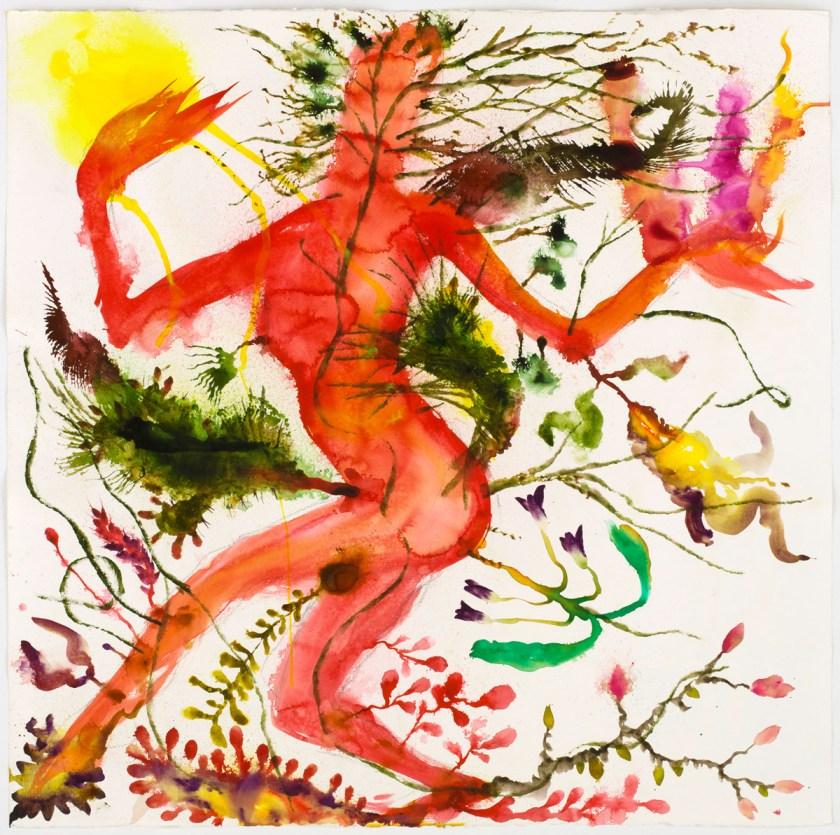 Miquel Barceló (1957) Jain vivace, 2019 Acuarela sobre papel, 113,5 x 113,5 cm Colección del artista © Foto: André Morin, 2020 © Miquel Barceló, VEGAP, Málaga, 2021
