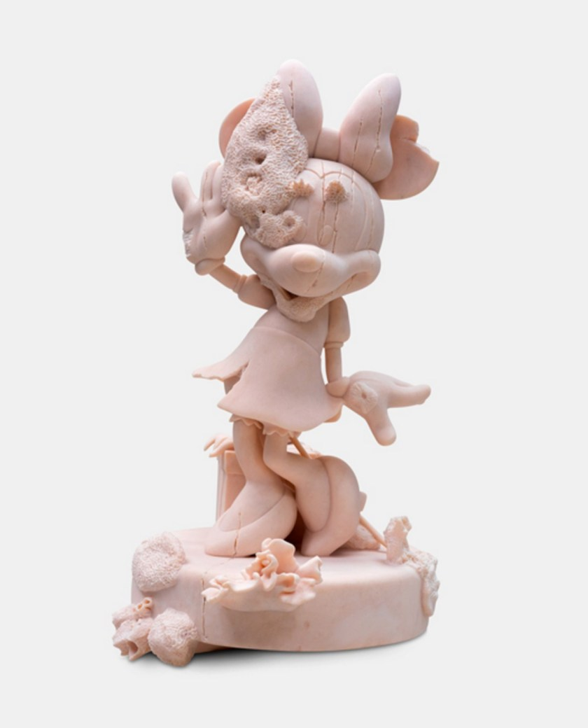 Damien Hirst, Minnie , 2020, pink marble, 39 5/8 × 22 7/8 × 22 7/8 inches (100.5 × 58 × 58 cm), edition of 3 + 2 AP © DamienHirst and Science Ltd. All rights reserved, DACS 2021. Photo: Lucio Ghilardi/Prudence Cuming Associates