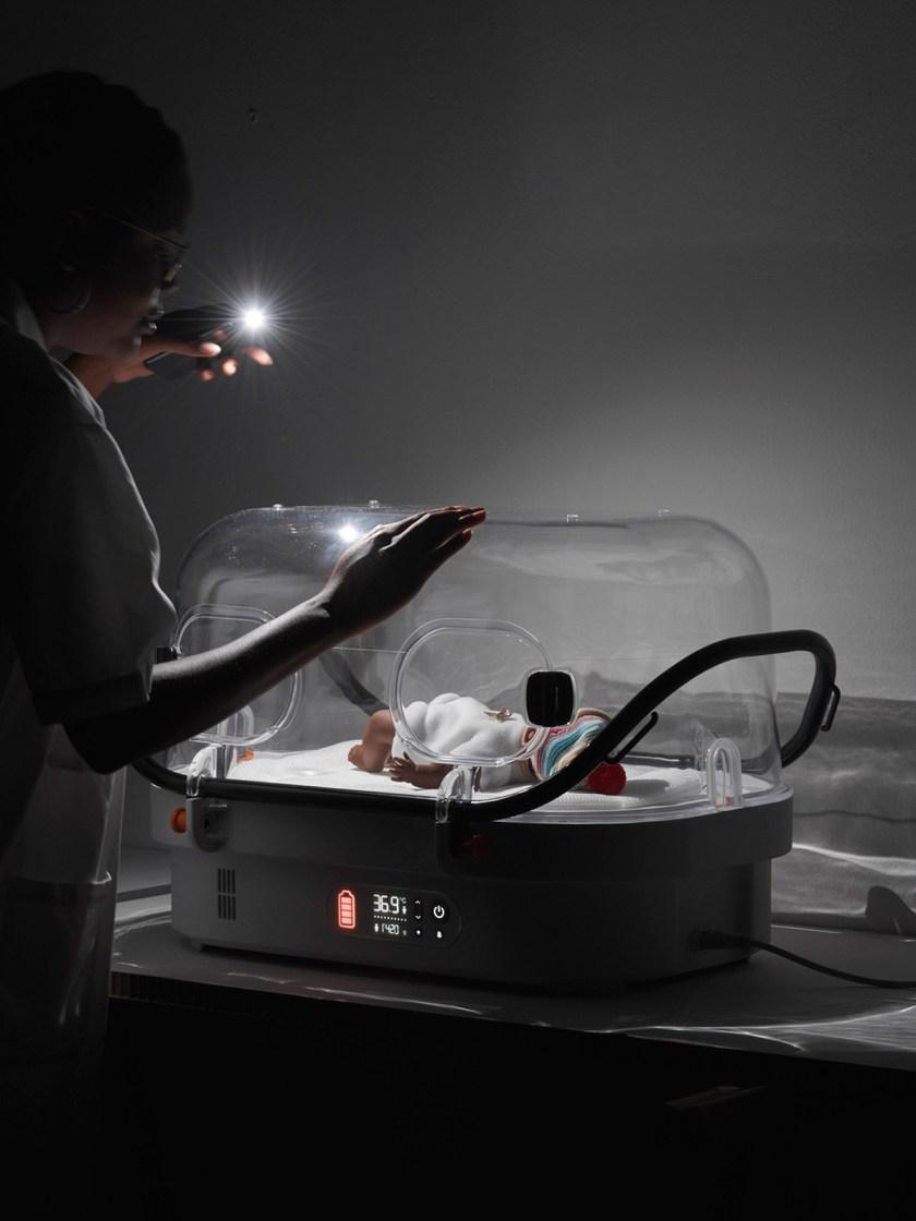 Nido robusto. Incubadora para recién nacidos. DIseño: Fabien Roy, escuela: ECAL Lausanne, Switzerland