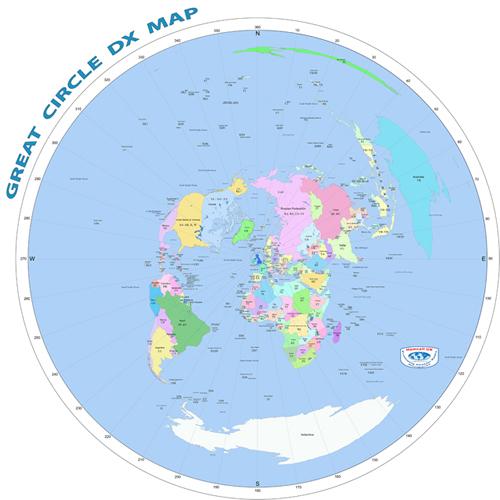 Circled Map Europe England