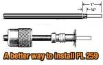 Install a PL-259 on an RG-8X