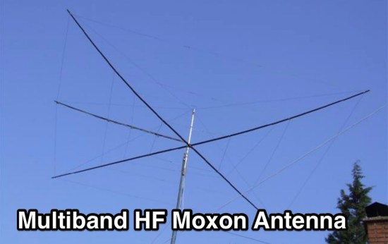 Large multiband moxon antenna