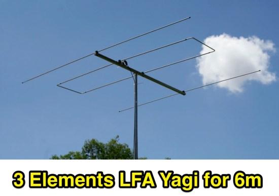 3 elements  50MHz LFA Yagi antenna