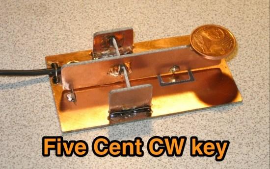 Five Cent CW key