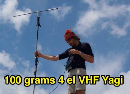 100 grams VHF yagi