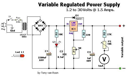 138 Volt Regulated Power Supply Schematic Diagram