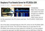 Raspberry Pi as RTL2832 Remote Server