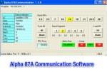 Alpha 87a Communication