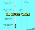 The 10/15/20 Meter Trap Vertical Antenna
