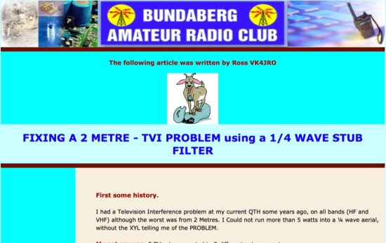 Fixing a 2 meter TVI Problem