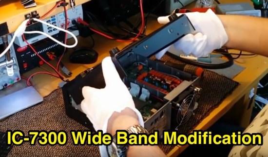 Icom IC 7300 wide band modification