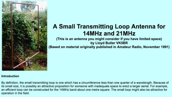 A Small Loop for 20 and 15 meter band