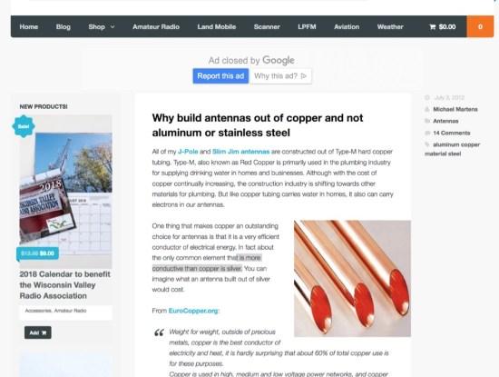 Choosing right material to make antennas