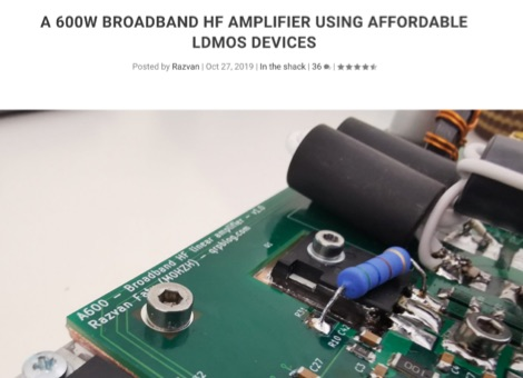 A Compact 600W Broadband HF Power Amplifier
