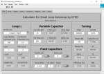 Small Loop Antenna Calculator by KY8D
