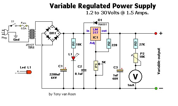 Variable Regulated Power Supply : resource detail