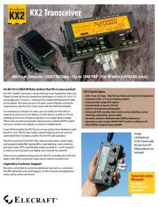 KX2 Brochure