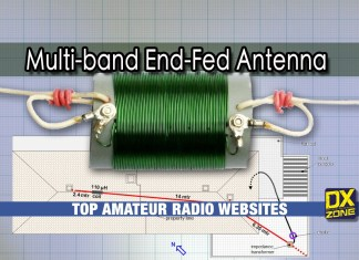 multi band end-fed antenna