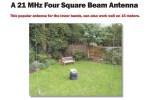 15m Four Square antenna