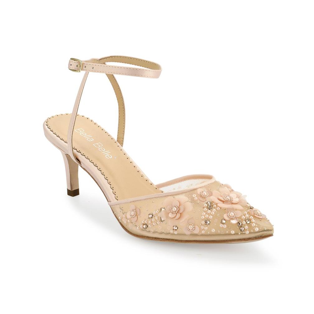BELLA BELLE ROSA BLUSH 2 12 HEEL Dyeable Shoe Store