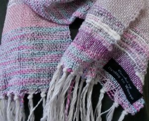 Pink scarf by Dyeing To Weave