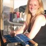 SAORI Weaving artist Prue Simmons