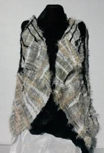 SAORI woven jacket by Gypsy Weaver