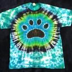 Dog Paw print tie dye tie-dye shirt
