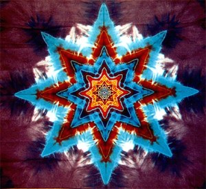 Maroon 8point star tapestry