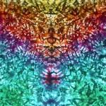 Rainbow Marble Vee tie dye