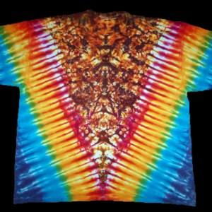 tie dye, tie-dye, tie dyed, tie-dyed, shirt, rainbow, vee