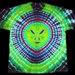 dyemasters tie dyes, tie dye shirt, alien face t-shirt