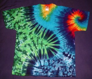 tie dye, tie-dye, tie dyed, tie-dyed, shirt, swirl, green, zigzag