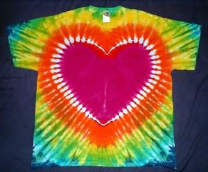 tie dye, tie-dye, tie dyed, tie-dyed, shirt , heart, rainbow