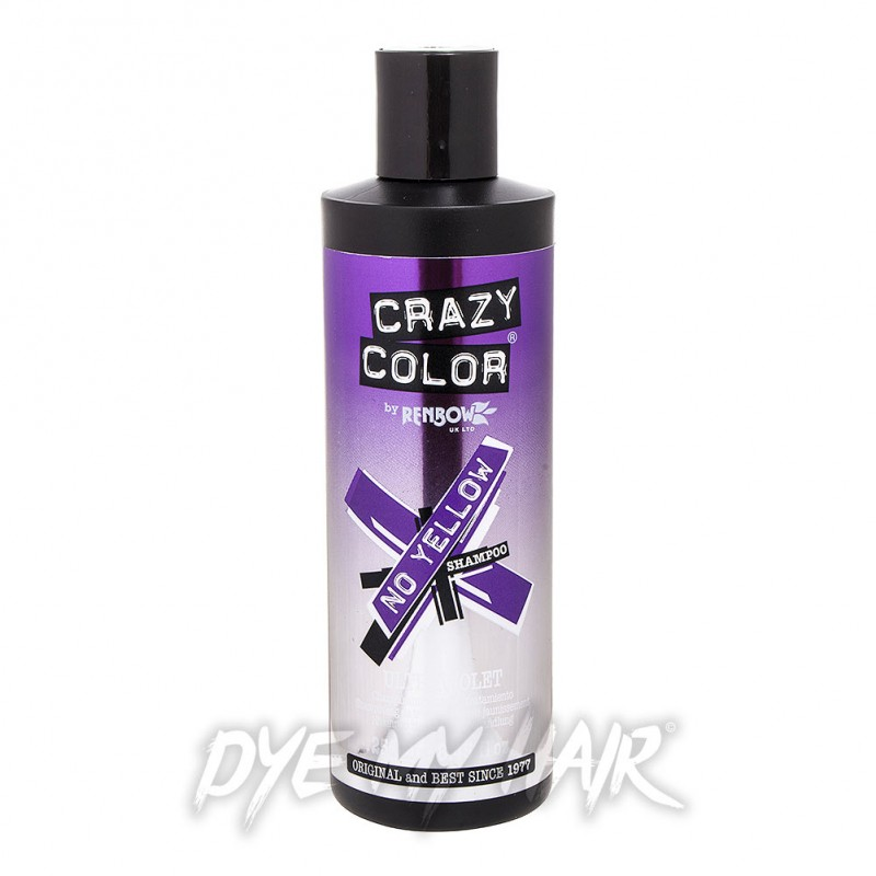 Crazy Color No Yellow Ultraviolet Shampoo 250ml Hair