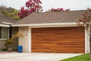 CHI Plank Cedar Garage Door