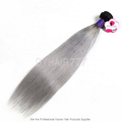 Royal 1 Bundle Virgin Cambodian Straight Hair Ombre Silver