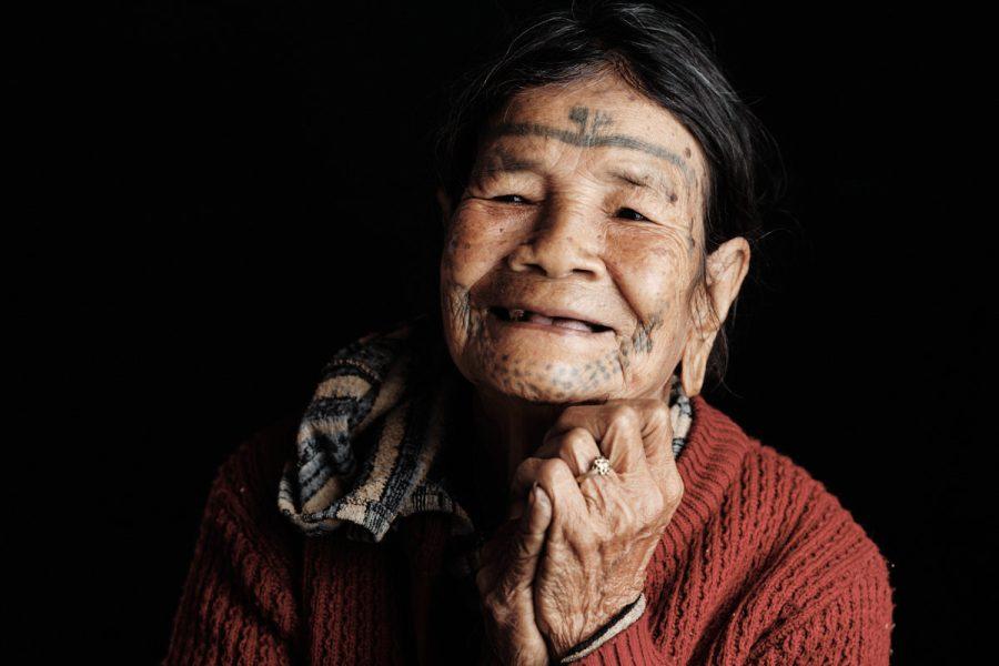 Brao Woman Facial Tattoo