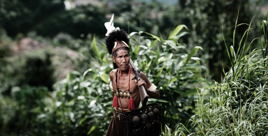 Konyak Naga Headhunter Nagaland India