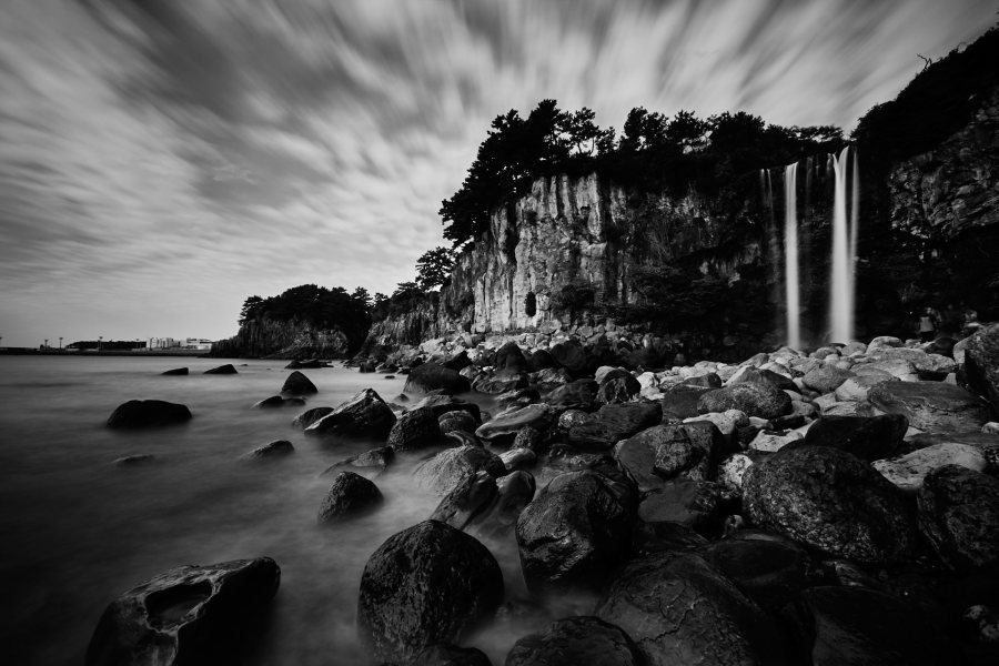 Jeongbang Falls - Jeju Island - South Korea - Long Exposure Photography